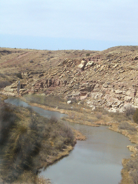 Canadian River at Logan, NM along route 283