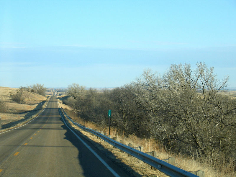Road between Wilson and Smith Center