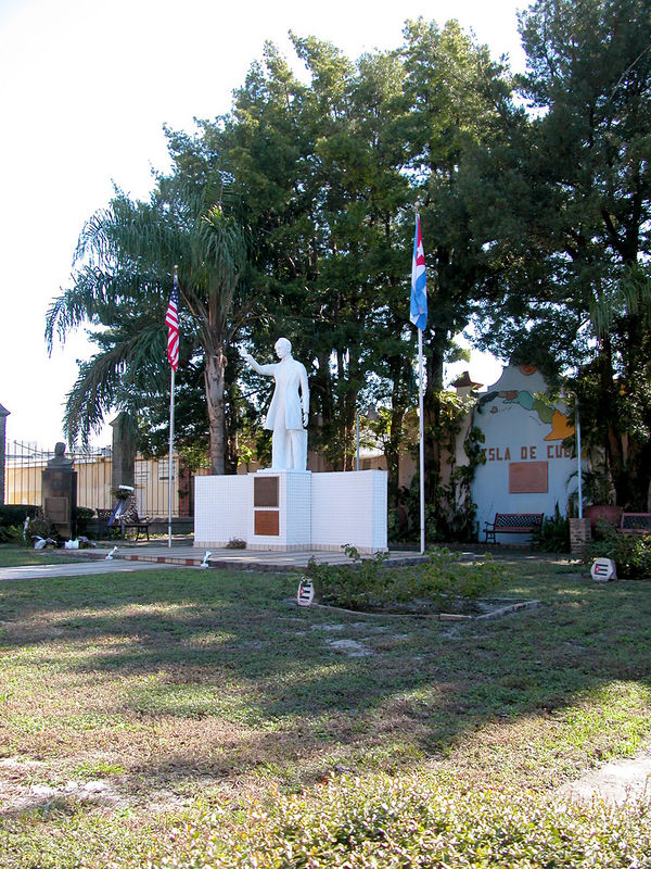 "Marti Park is still owned by the Cuban government, which donated $25,000 during Fulgencio Batista y Zaldivar's reign to complete the park. Today, the plot is known as the ``only free Cuban land in the world""."