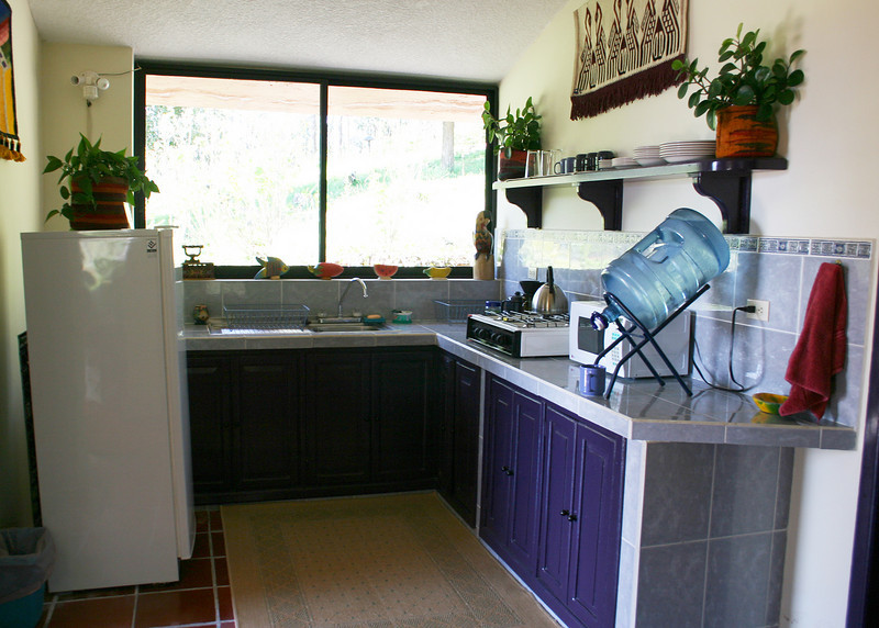 This is the kitchen area of the casita.