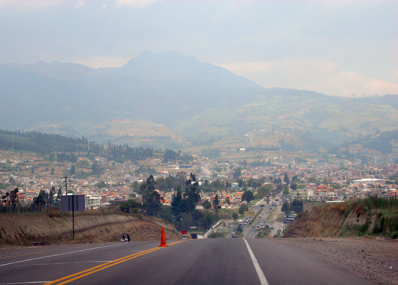 A view of Otavalo as we are heading back from Peguche