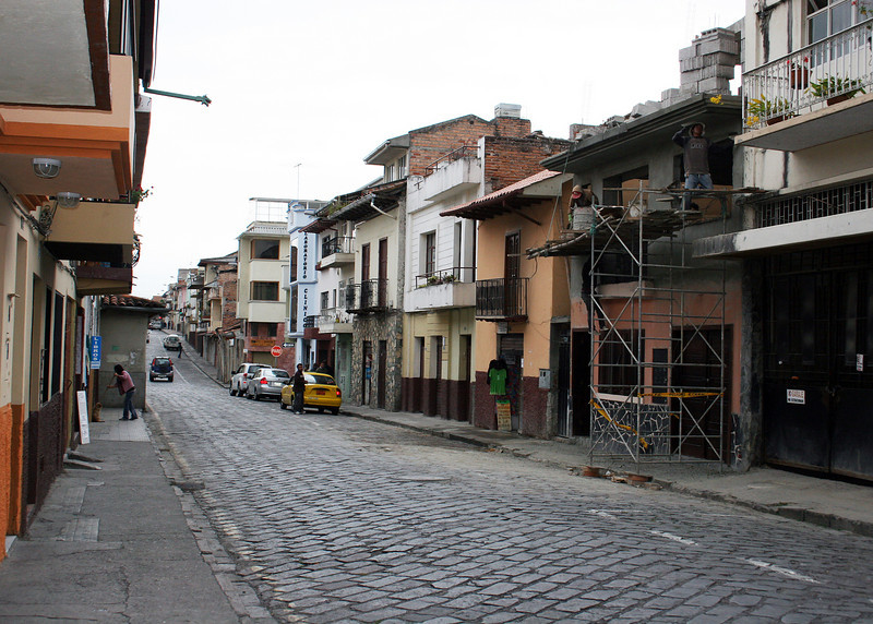 """I was fascinated by the beautiful architecture in Cuenca; just some of the buildings in """"Old Town""""."""