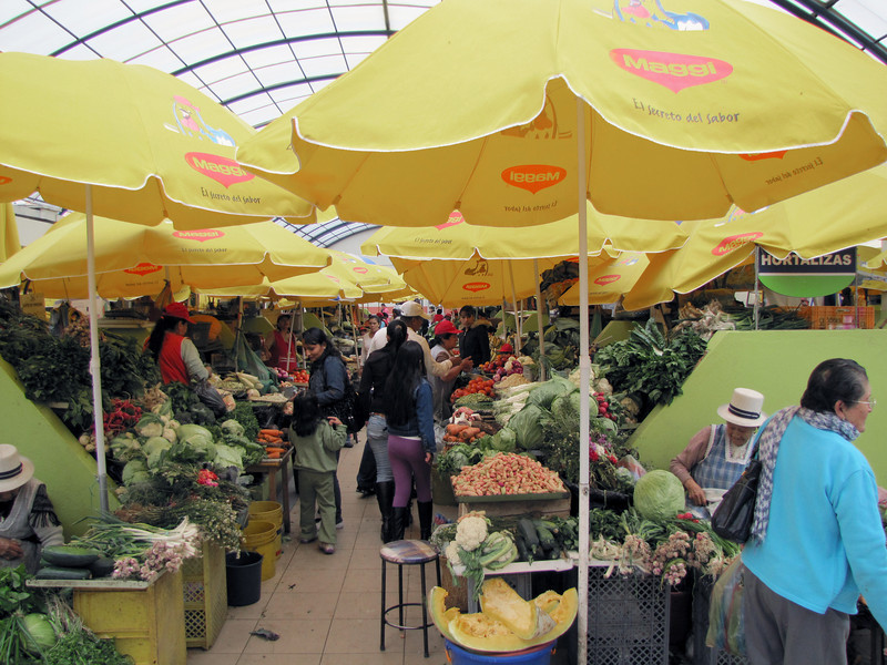 Mercado Municipal is a large indigenous market where they buy and sell vegetables, fruit, meat, grains, etc.