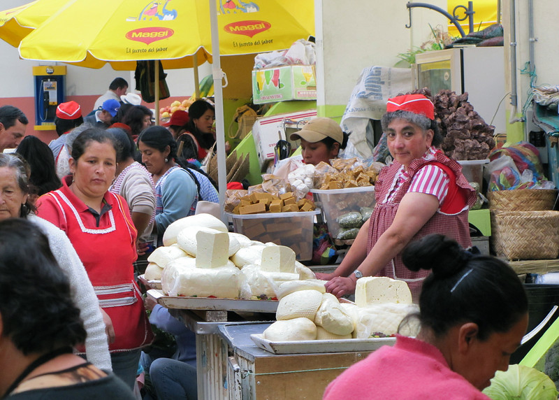 Mercado Municipal is a large indigenous market where they buy and sell vegetables, fruit, meat, grains, etc.  Cheese for sale.