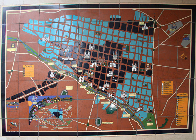 A tile map of Old Town Cuenca