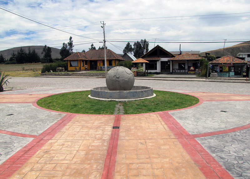 This is one of the markers of the equator in Cayambe.