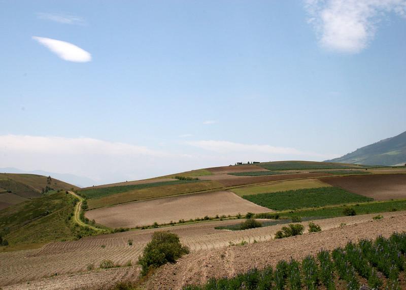 Fields just outside Otavalo.