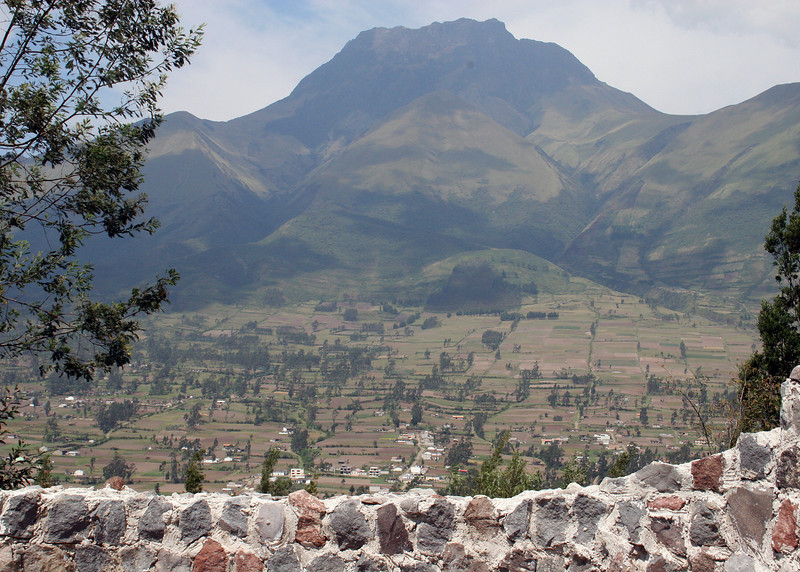 Volcano Imbabura as viewed from the Parque de Condor.