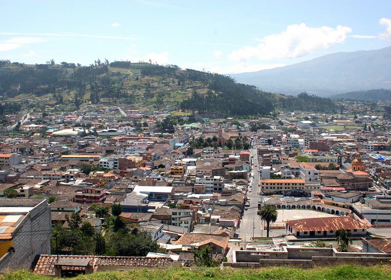 Overlooking the city of Otavalo.