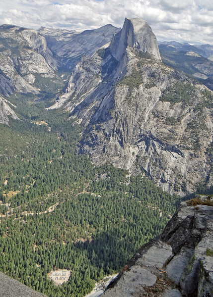 Half Dome and valley from Glacier Point