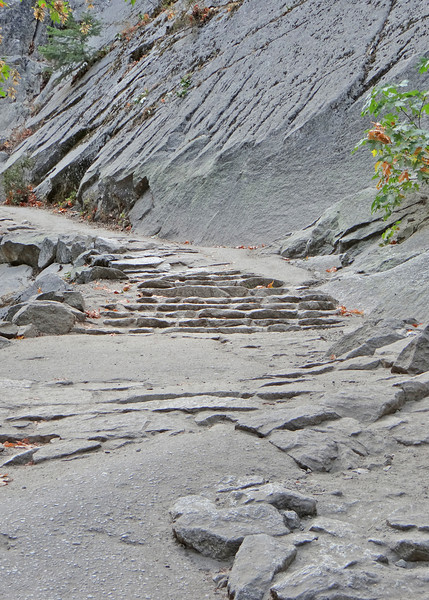 The granite stairs along the Vernal Falls hike
