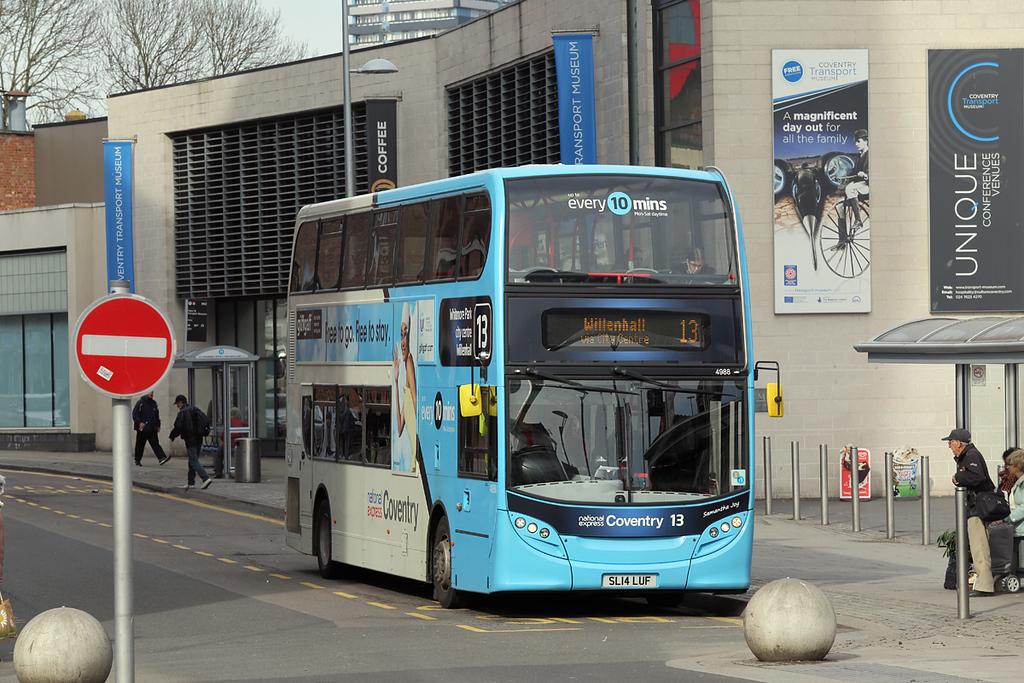 4988 SL14LUF, Coventry 14/3/2018