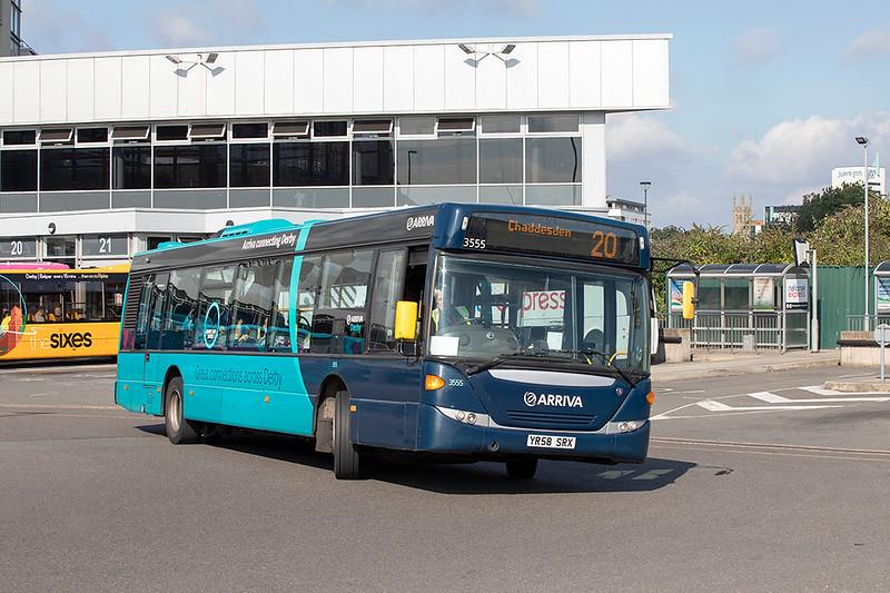 3555 YR58SRX, Derby 16/9/2021
