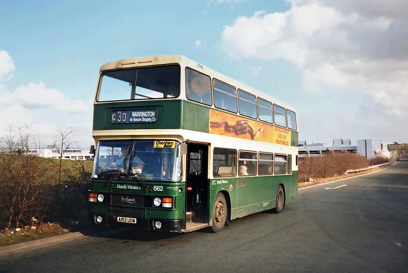 662 A153UDM, Runcorn 1/3/1991