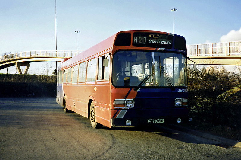 250 CBV791S, Runcorn 1/3/1991