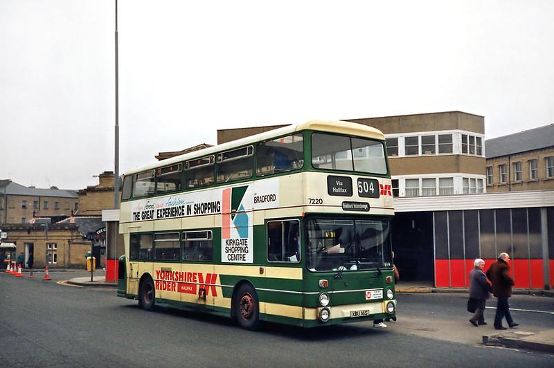 7220 XBU16S, Huddersfield 2/3/1991
