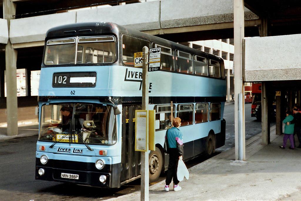 62 NRN386P, Liverpool 2/4/1991