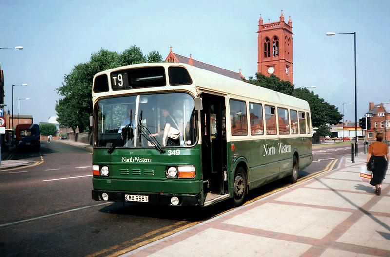 349 GMB668T, Widnes 3/9/1991