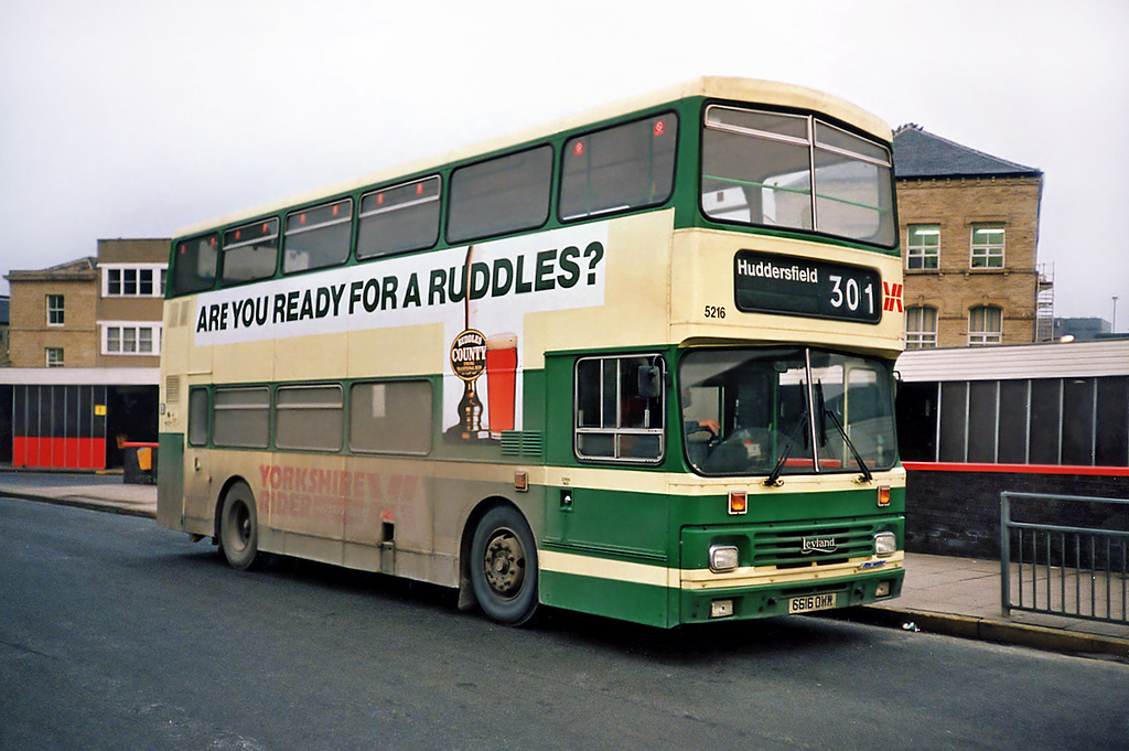 5216 G616OWR, Huddersfield 4/2/1991