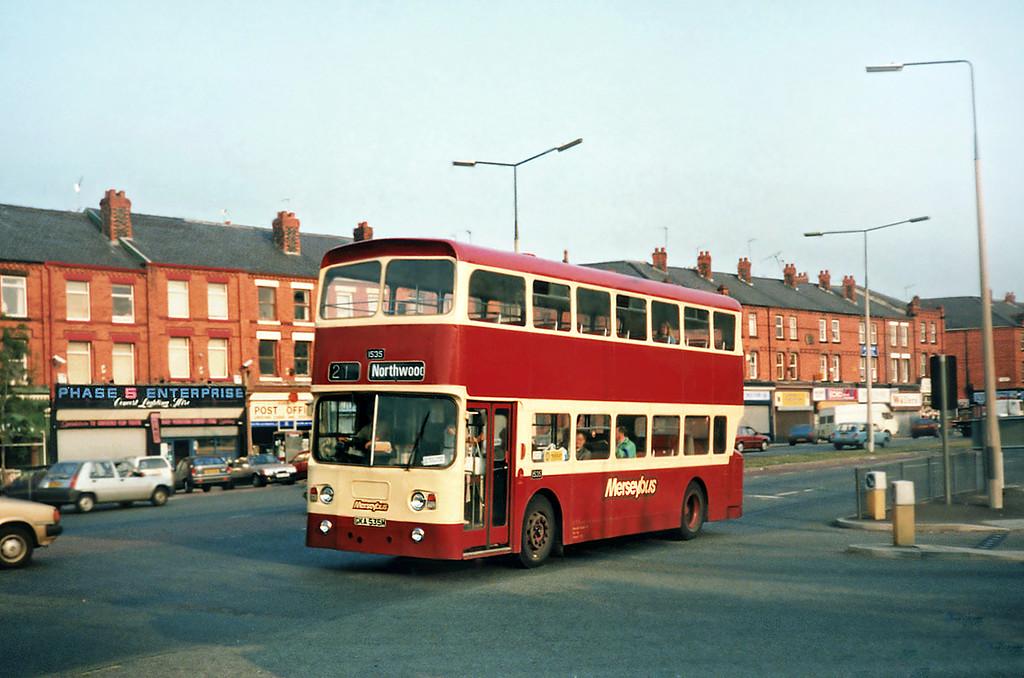 1535 GKA535M, Aigburth 4/9/1991