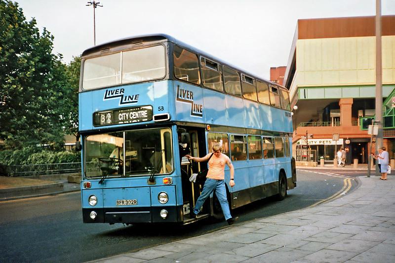 53 BFR302R, Liverpool 4/9/1991