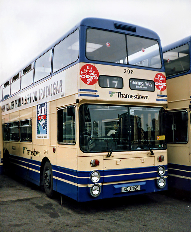 208 XBU14S, Swindon 7/7/1991