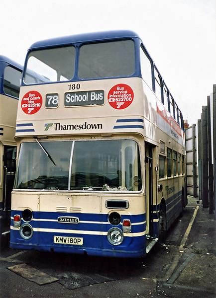 180 KMW180P, Swindon 7/7/1991