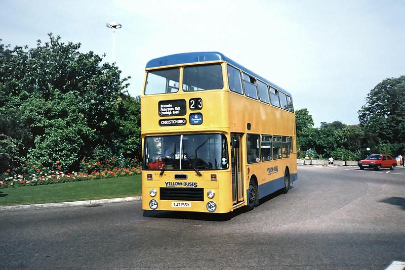 195 TJT195X, Bournemouth 7/7/1991