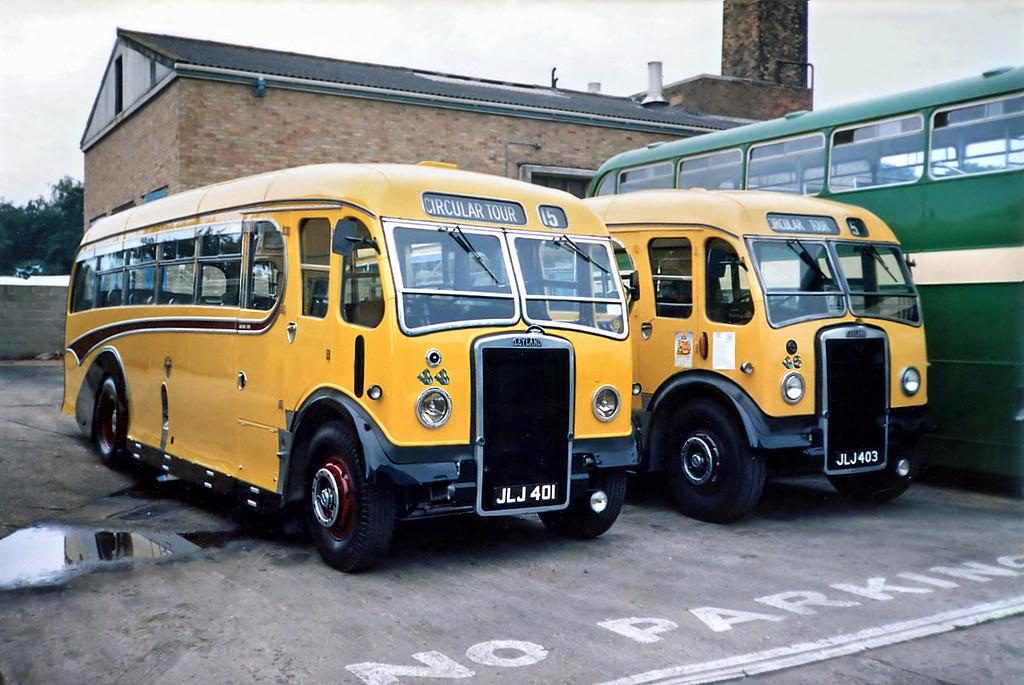 44 JLJ401 and 46 JLJ403, Bournemouth 7/7/1991