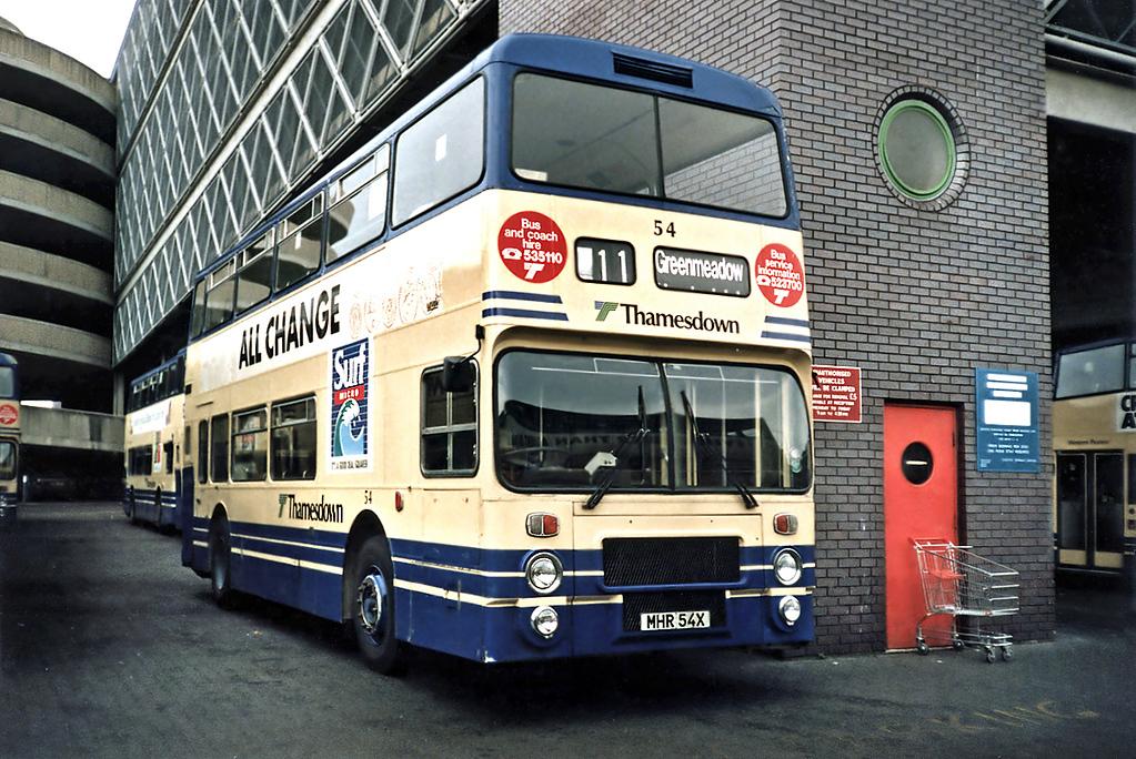 54 MHR54X, Swindon 7/7/1991