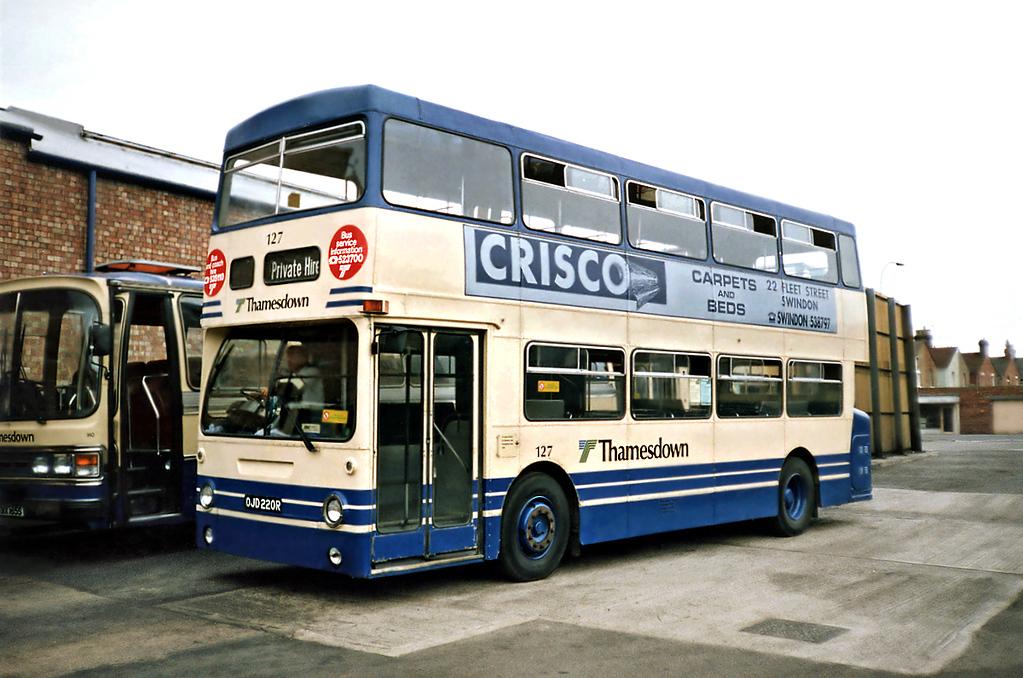 127 OJD220R, Swindon 7/7/1991