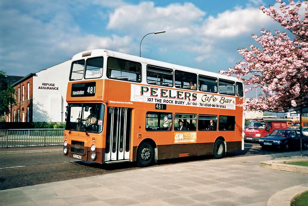 3128 B128WNB, Bury 8/5/1991