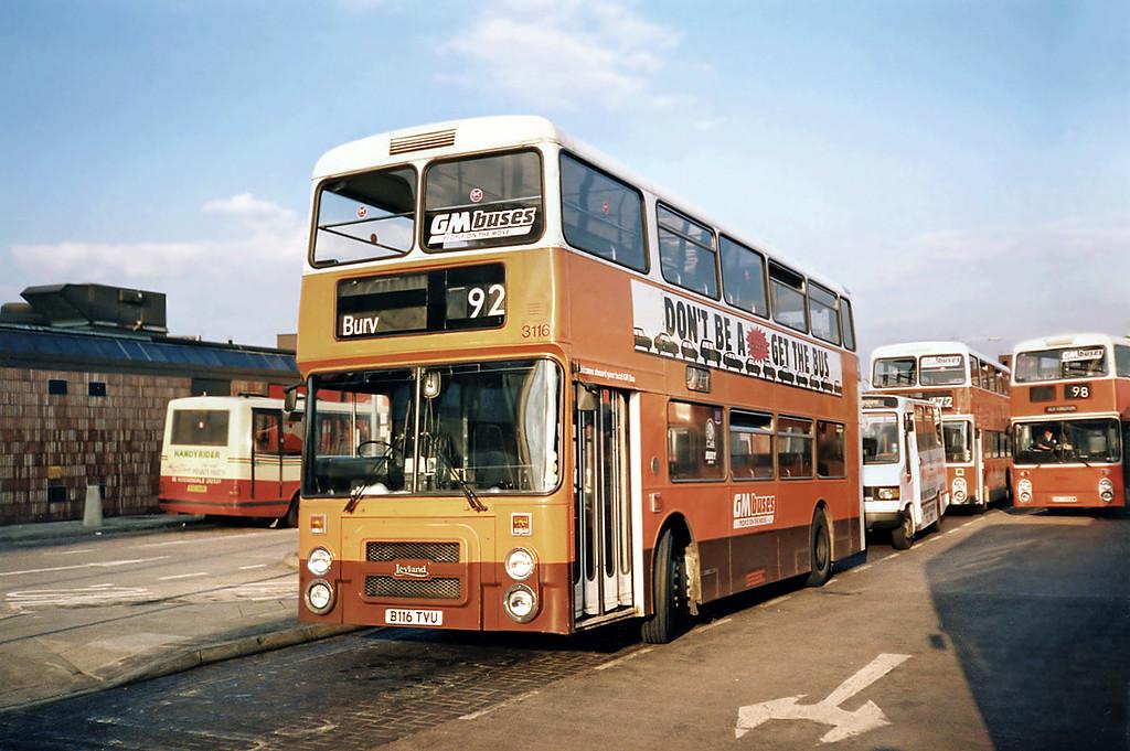 3116 B116TVU, Bury 8/5/1991