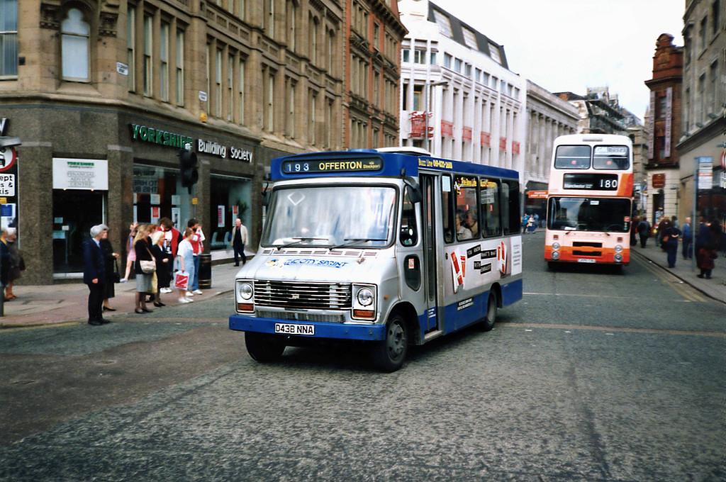 3438 D438NNA, Manchester 8/5/1991