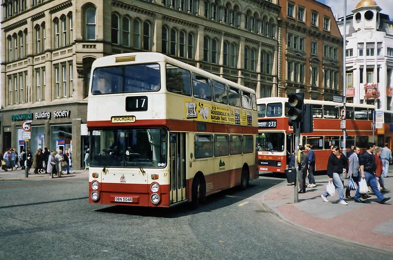 37 OBN504R, Manchester 8/5/1991