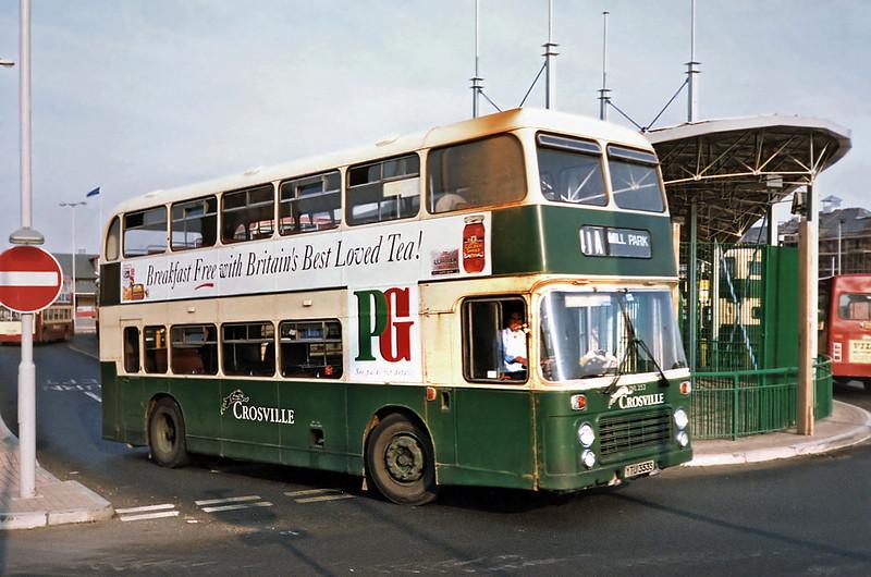 DVL353 YTU353S, Birkenhead 9/9/1991