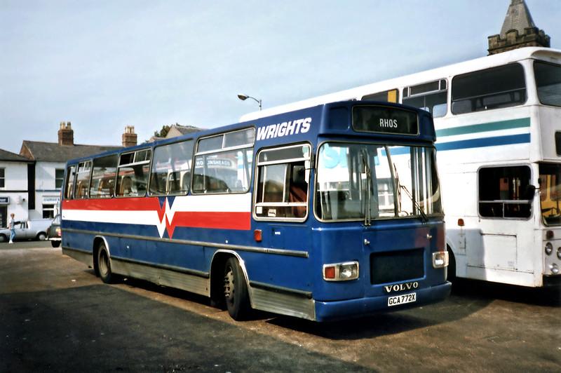 GCA772X, Wrexham 9/9/1991