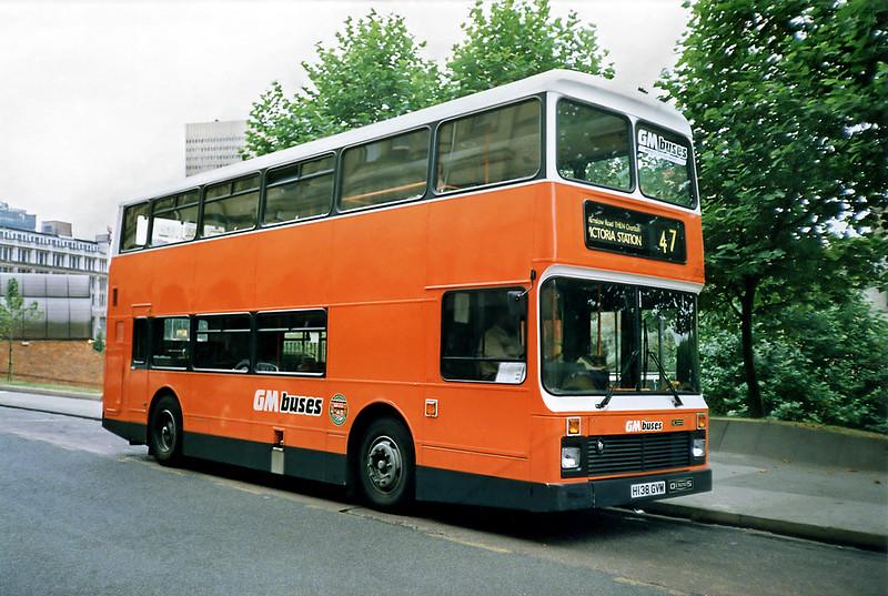 2038 H138GVM, Manchester 12/9/1991