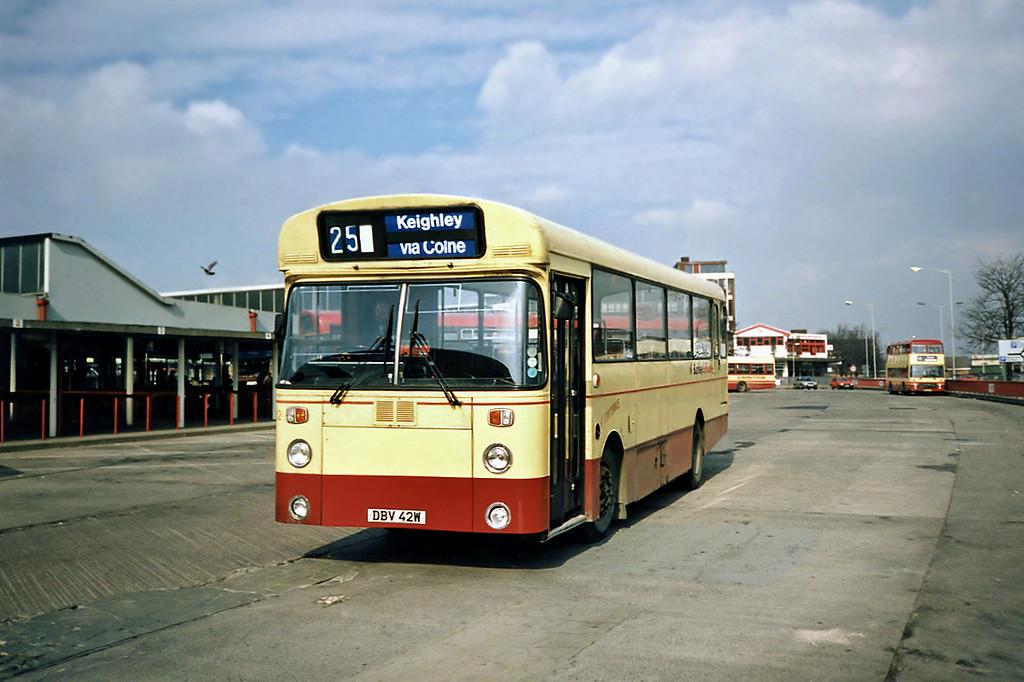 42 DBV42W, Burnley 13/3/1991