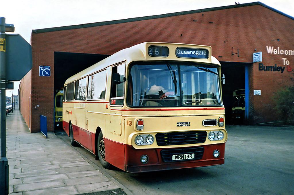 13 WRN13R, Burnley 13/3/1991