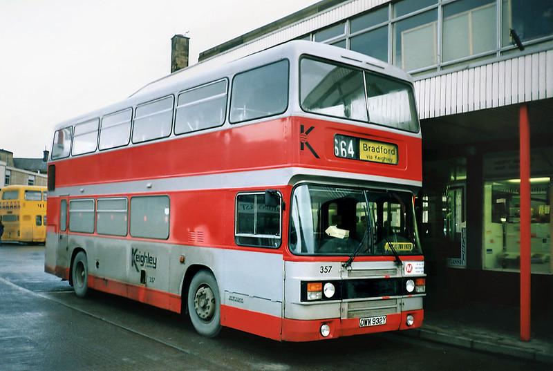 357 DWW932Y, Keighley 15/2/1991