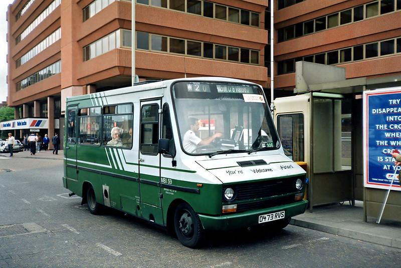 MBI59 D473RVS, Watford Junction 15/5/1991
