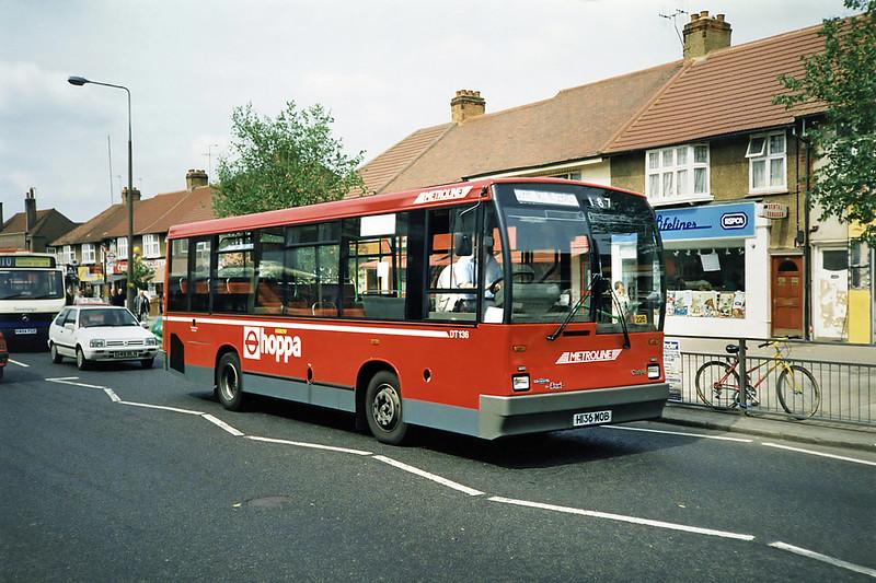 DT136 H136MOB, South Harrow 15/5/1991