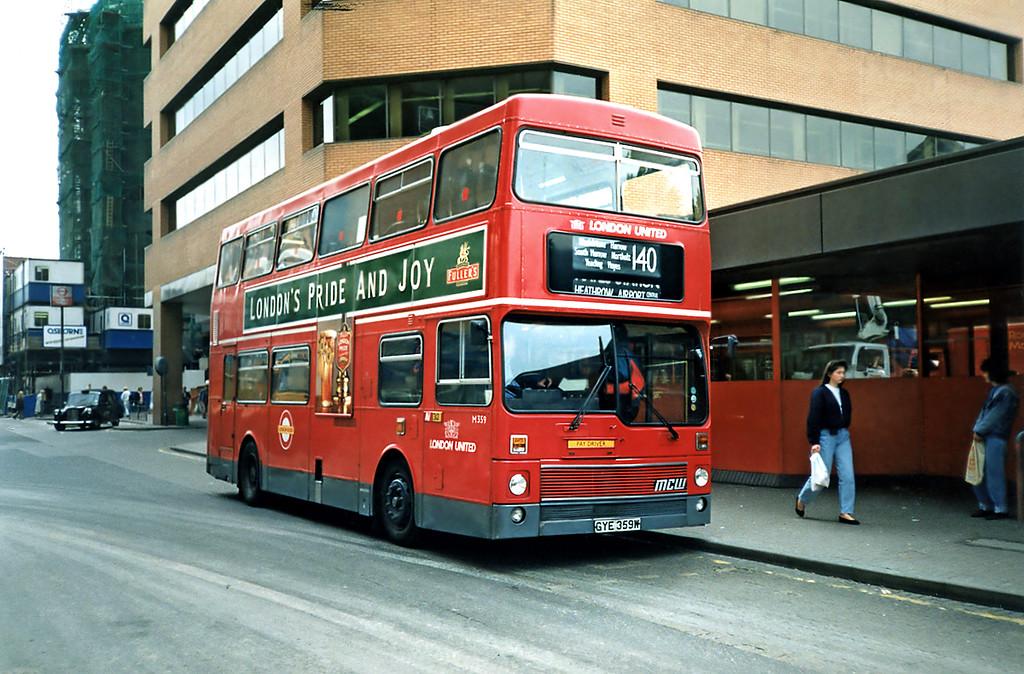 M359 GYE359W, Harrow-on-the-Hill 15/5/1991