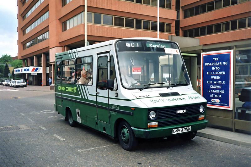 MBI55 D498RNM, Watford Junction 15/5/1991