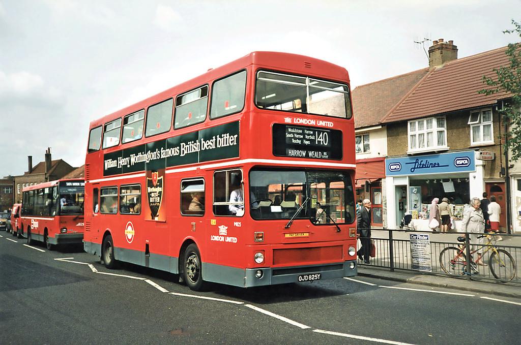 M825 OJD825Y, South Harrow 15/5/1991