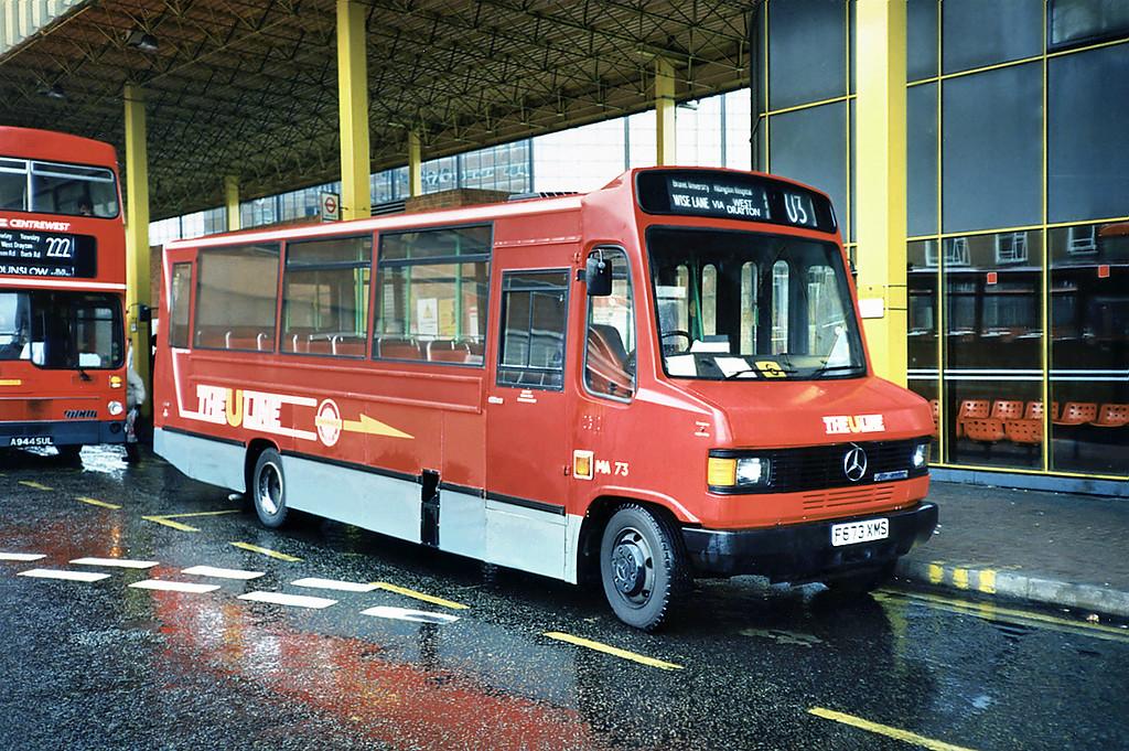 MA73 F673XMS, Uxbridge 16/5/1991