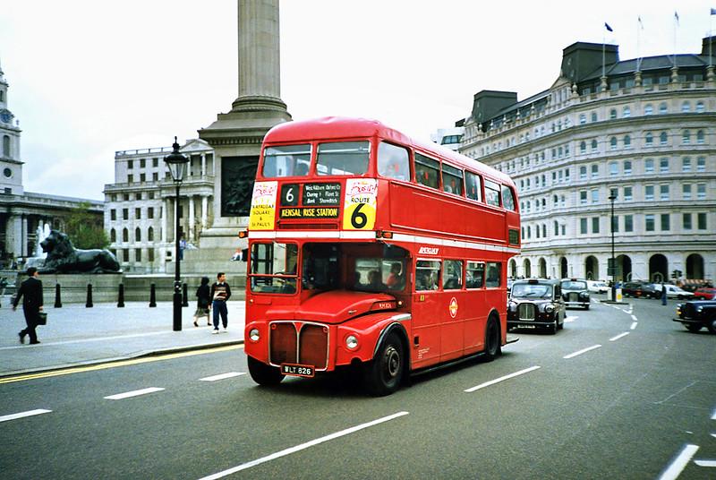 RM826 WLT826, Trafalgar Square 16/5/1991