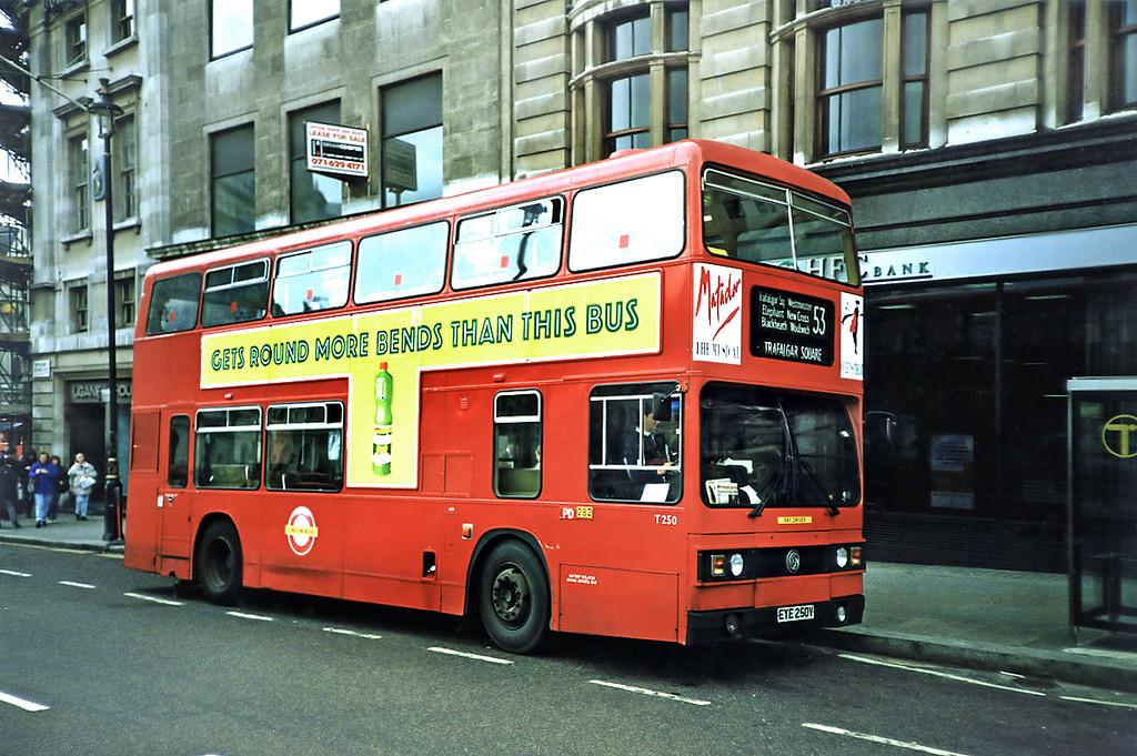 T250 EYE250V, Trafalgar Square 16/5/1991