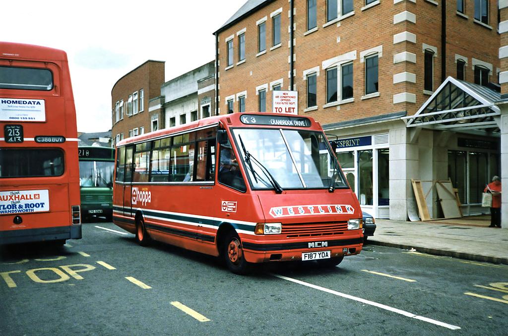 MRL83 F187YDA, Kingston-upon-Thames 17/5/1991